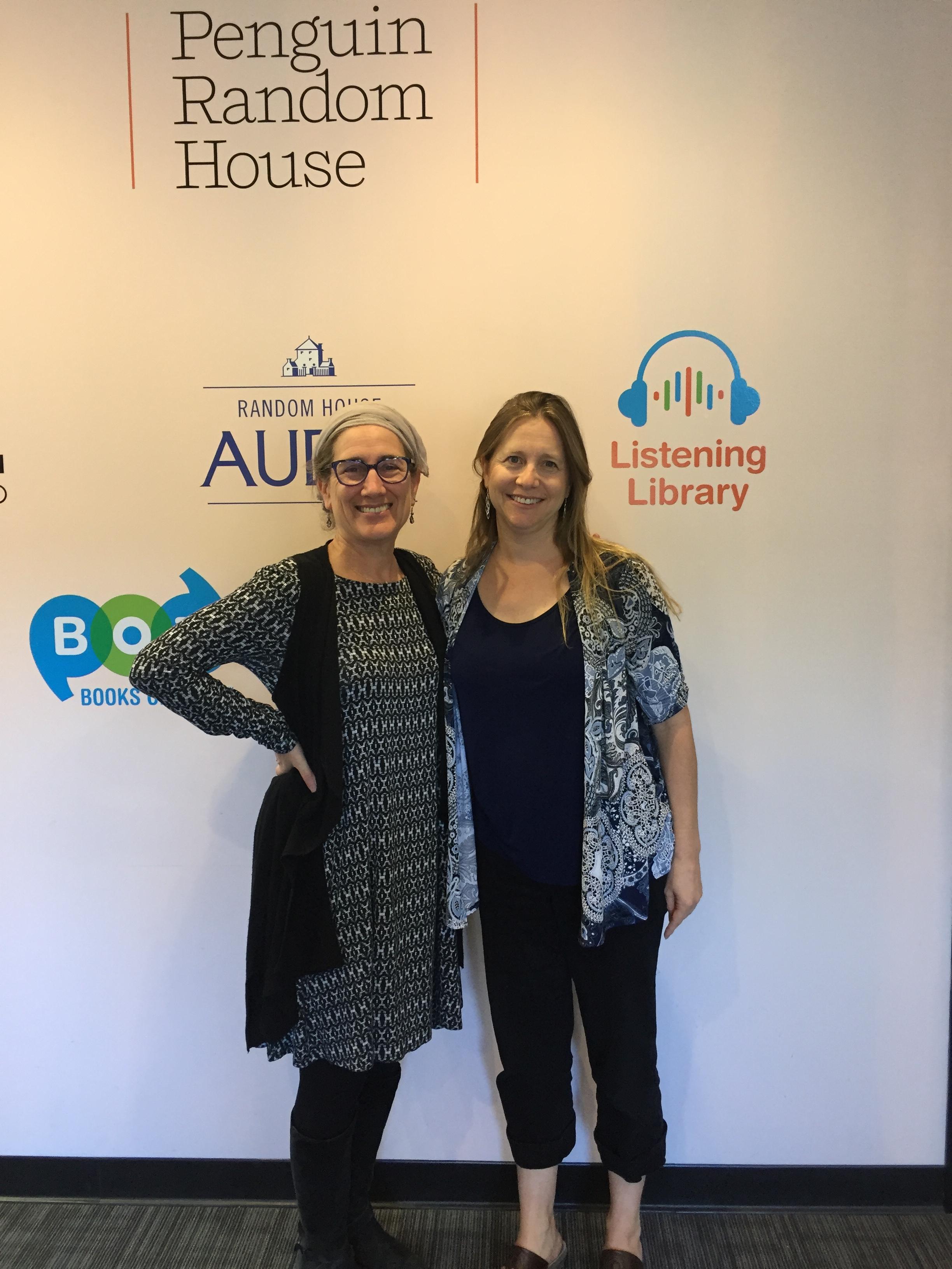 Sarah and Linda at Penguin Audio Book Recording.JPG