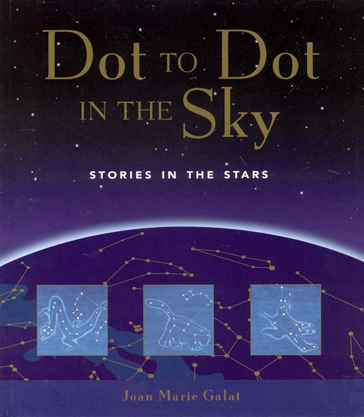 Cover of DOT TO DOT IN THE SKY, with link to book's page on the publisher's website.