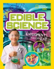 Cover of EDIBLE SCIENCE: EXPERIMENTS YOU CAN EAT with link to book page on author's web site.